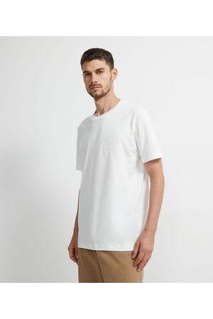 Marfinno Homem Camisa Manga Curta - Camisa Manga Curta em Algodão com Bordado | | | M