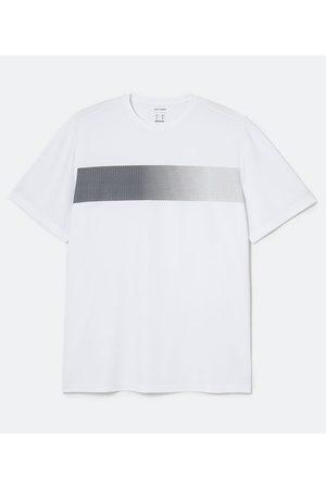 Get Over Homem Camisolas de Manga Curta - Camiseta Esportiva Manga Curta Estampa Geométrica Degradê - Plus Size       EG II