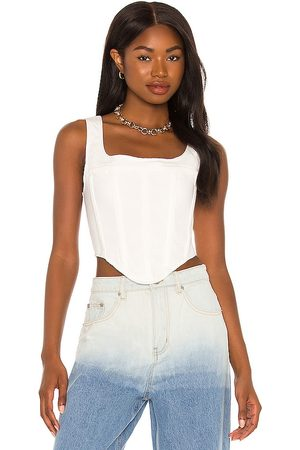 By Dyln Karter Corset in White. - size L (also in M, S, XS)