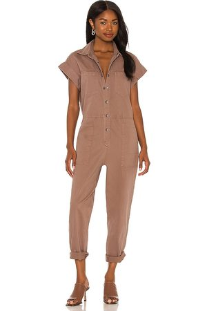 Pistola Naomi Sleeveless Jumpsuit in Brown. - size L (also in M, S, XS, XXS)