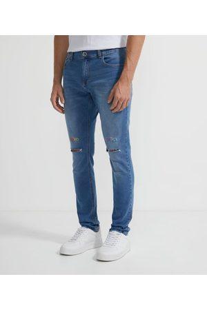 Blue Steel Calca Skinny Jeans Destroyed com Bordado       46