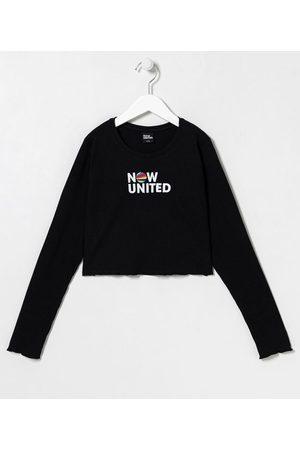 Now United Criança Vestidos - Blusa Infantil Canelada - Tam 9 a 14 anos | | | 13-14