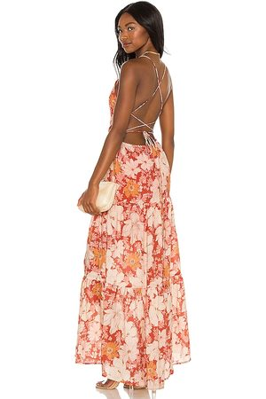 Minkpink Azar Open Back Maxi Dress in Red. - size L (also in S, XS, M)