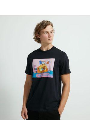 The Simpsons Homem Camisolas de Manga Curta - Camiseta Manha Curta em Algodão Estampa       EG I