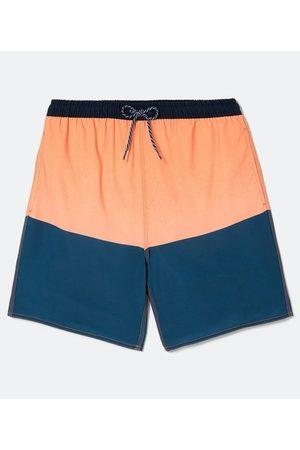 Marfinno Homem Short de Banho & Sunga - Bermuda Banho com Blocos de Cor | | | P