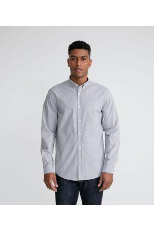 Marfinno Homem Camisa Manga Comprida - Camisa Manga longa Casual Listrada | | | EG