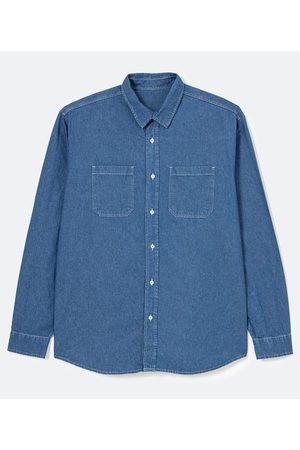 Camisa Manga Longa em Jeans com Bolsos     EG I