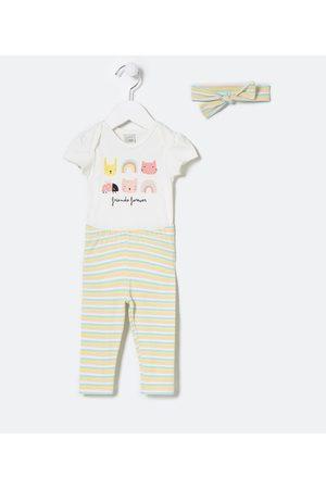 Teddy Boom (0 a 18 meses) Criança Sets - Conjunto Infantil Estampa de Bichinhos - Tam 0 a 18 meses       0-3M