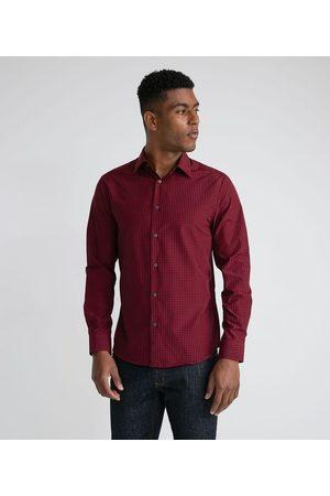 Marfinno Homem Camisa Manga Comprida - Camisa Manga Longa Slim em Padronagem Xadrez | | | EG I