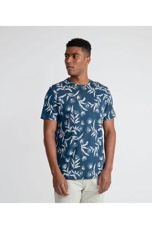Marfinno Homem Camisolas de Manga Curta - Camiseta Manga Curta com Estampa Floral em Algodão Peruano       EG I