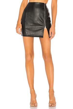 superdown Melissa Zip Up Faux Leather Mini Skirt in . - size M (also in XXS, XS, S, XL)