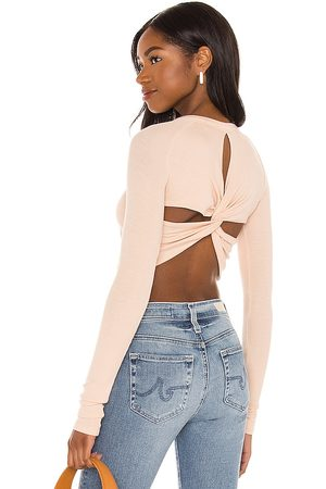 Alix NYC Coles Crop Top in Nude. - size L (also in XS, S, M)