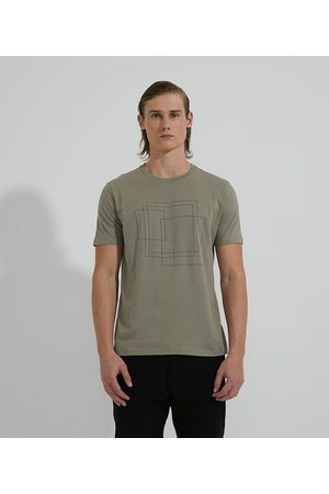 Request Camiseta Manga Curta em Algodão Estampa Quadrados       M