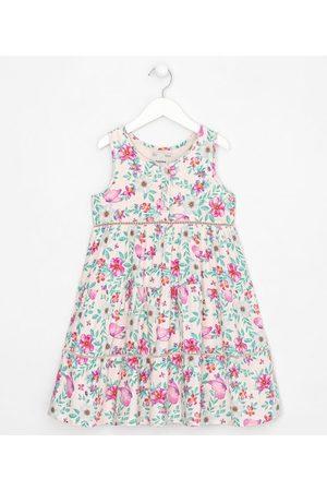 Fuzarka (5 a 14 anos) Vestido Infantil em Viscose Estampa Floral - Tam 5 a 14 anos       5-6