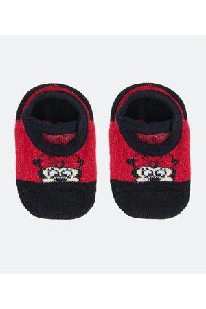 Minnie Mouse Meia Sapatilha Atoalhada com Antiderrapante Minnie - Tam 0 a 12 meses       00/06 M
