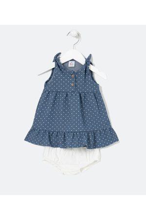 Teddy Boom (0 a 18 meses) Vestido Infantil Estampa Poá com Calcinha - Tam 0 a 18 meses | | | 9-12M
