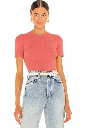 JoosTricot Crew Neck Top in Coral. - size L (also in M, S, XS)