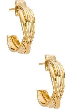 Cloverpost Lennon Earring in Metallic Gold.