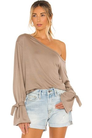 Tularosa Dylan Top in Taupe. - size L (also in XXS, XS, S, M, XL)
