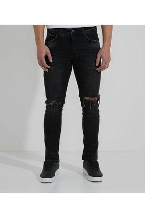 Blue Steel Calça Skinny Jeans com Joelho Navalhado | | | 46