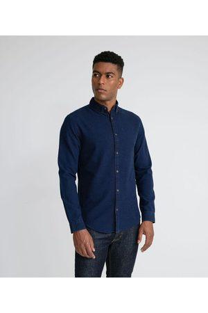Marfinno Homem Camisa Manga Comprida - Camisa Manga Longa Slim com Maquineta Poá | | | EG