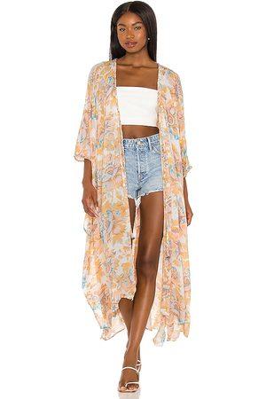 Free People Into The Wild Kimono in Peach. - size L (also in M, S, XL, XS)