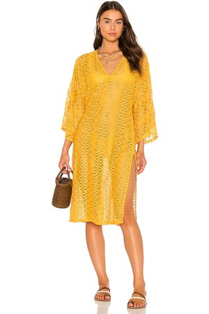 House of Harlow X Sofia Richie Grivas Caftan in Yellow. - size L (also in M, S, XL, XS, XXS)