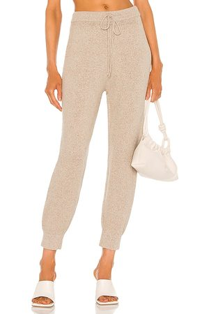 JoosTricot Speckled Jogger in Beige. - size L (also in M, S, XS)