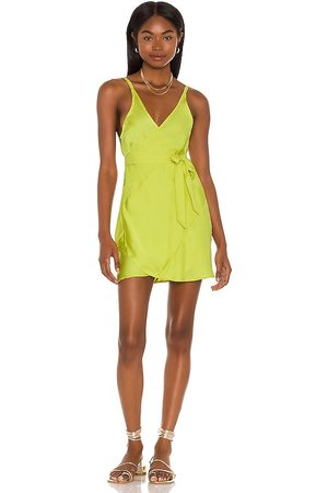 Free People Like Me Or Love Me Slip Dress in Green. - size L (also in M, S, XL, XS)