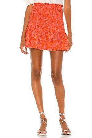 Lovers + Friends Reston Mini Skirt in Orange. - size L (also in M, S, XL, XS, XXS)
