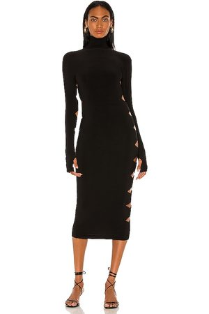 Norma Kamali Long Sleeve Alligator Turtle Dress in . - size L (also in M, S, XS)