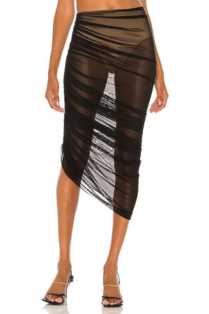 Norma Kamali Diana Long Skirt in Black. - size L (also in M, S, XS)