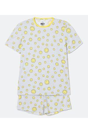 SMILEY® Homem Pijamas - Pijama Curto em Poliviscose Estampa Smiley | | médio | G