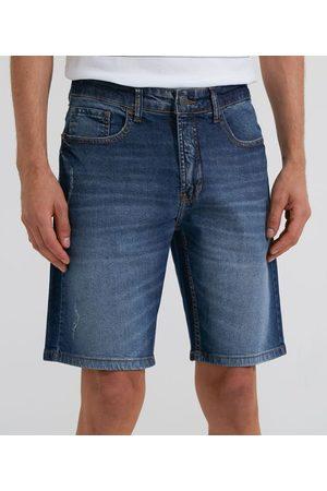 Marfinno Bermuda Jeans sem Estampa | | | 44