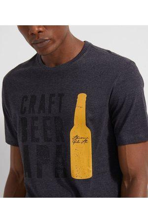 Marfinno Homem Camisolas de Manga Curta - Camiseta Manga Curta com Estampa Cerveja       P
