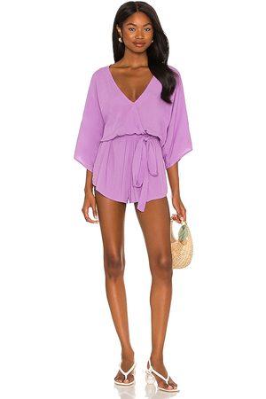 Indah Sunday Kimono Romper in Purple. - size M/L (also in S/M)