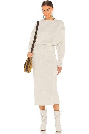 Isabel Marant Meg Midi Dress in Light Grey. - size 34/2 (also in 36/4, 38/6, 40/8, 42/10)