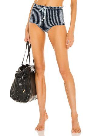 Knorts Denim Knitwear Barely Bikini Bottom in Blue. - size 1 (also in 2, 3, 4)