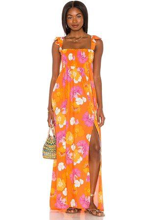 Agua Bendita X REVOLVE Leandra Dress in Orange,Pink. - size L (also in M, S, XS)