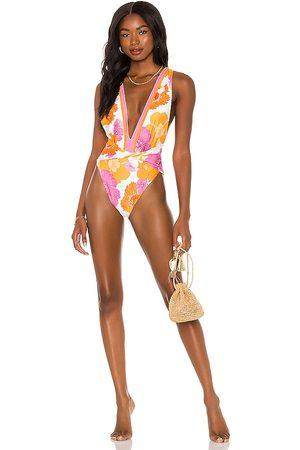 Agua Bendita X REVOLVE Ellis One Piece Bikini in Orange,Pink. - size L (also in M, S, XS)