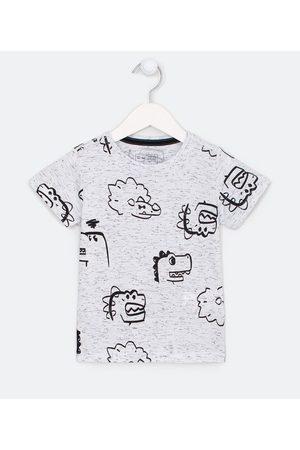 Póim (1 a 5 anos) Criança Camisolas de Manga Curta - Camiseta Infantil Estampa de Dinos - Tam 1 a 5 anos       01
