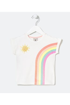 Póim (1 a 5 anos) Blusa Infantil em Cotton Estampa Arco-íris e Sol com Organza - Tam 1 a 5 anos       03