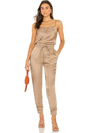 Cinq A Sept Finnley Jumpsuit in Taupe. - size L (also in M, S, XS)