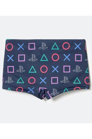 Playstation 3 Criança Short de Banho & Sunga - Sunga Infantil Boxer Estampa Logos       9-10
