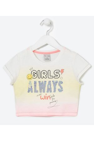 Fuzarka Criança Blusa - Blusa Infantil Dip Dye Lettering com Paetês - Tam 5 a 14 anos       9-10