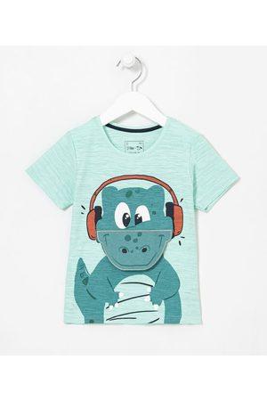 Póim (1 a 5 anos) Camiseta Infantil Estampa Interativa de Jacaré - Tam 1 a 5 anos       05
