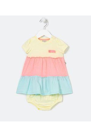 Teddy Boom (0 a 18 meses) Criança Vestidos - Vestido Infantil Marias Recortes Neon com Calcinhas - Tam 0 a 18 meses | | | 9-12M