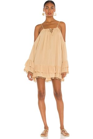 Lovers + Friends Tropical Oasis Dress in Tan. - size L (also in M, S, XS, XXS)