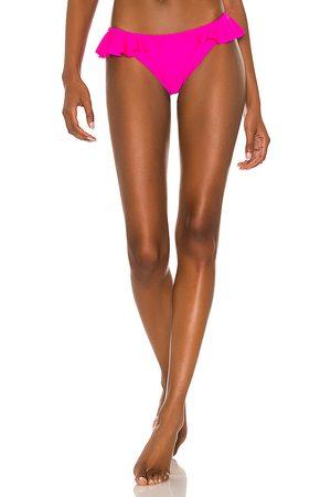 Shani Bikini - X REVOLVE Rubi Ruffled Bikini Bottom in Fuchsia. - size L (also in M, S, XS)