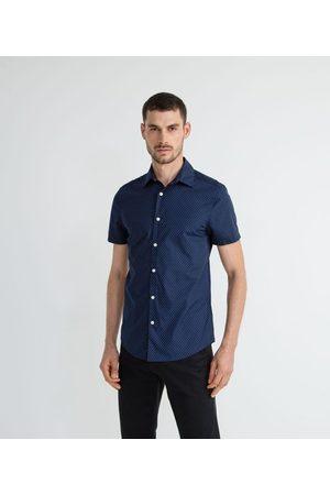 Marfinno Homem Camisa Manga Curta - Camisa Manga Curta Estampa Poá       03